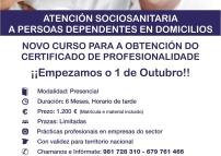 Novo curso acreditado pola Consellería de Traballo e Benestar para a obtención do Certificado de Profesionalidade en Atención a persoas dependentes en domicilios.